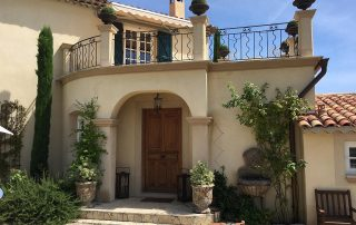 Eingangstür Villa Euthymia Südfrankreich Côte d'Azur