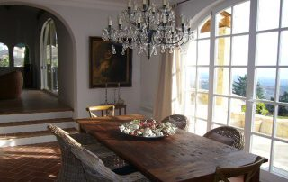 Esszimmer Villa Euthymia Südfrankreich Côte d'Azur