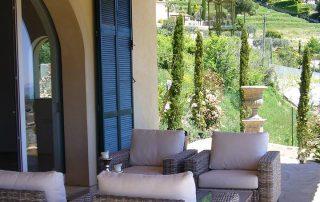 Lounge Terrasse Villa Euthymia Südfrankreich Côte d'Azur