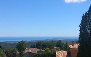 Ausblick Villa Euthymia Südfrankreich Côte d'Azur